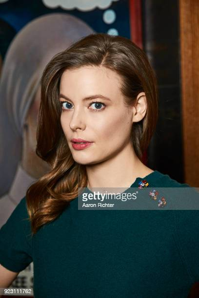 Actress Gillian Jacobs is photographed for New York Times on February 2 2018 at Public Theater in New York City