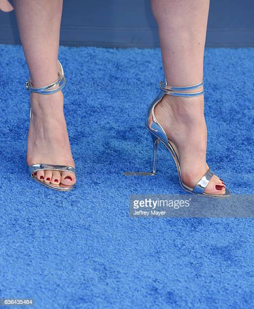 Actress Gillian Jacobs shoe detail at The 22nd Annual Critics' Choice Awards at Barker Hangar on December 11 2016 in Santa Monica California