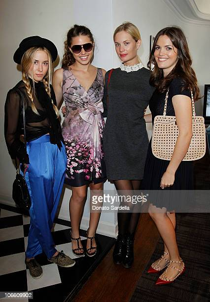 Actress Gillian Zinser Alessandra Balazs Katie Parfet and Shane Lynch attend Vogue and Valentino Celebrate Spring/Summer 2011 Collection Hosted by...