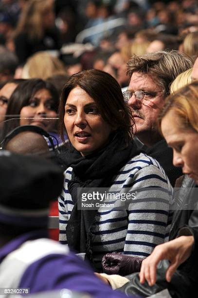 Actress Gina Bellman attends the game between the San Jose Sharks and the Los Angeles Kings on October 12 2008 at Staples Center in Los Angeles...