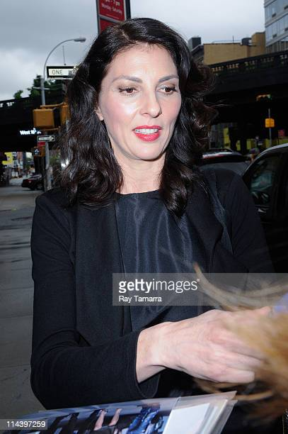 Actress Gina Bellman enters Del Posto on May 18 2011 in New York City
