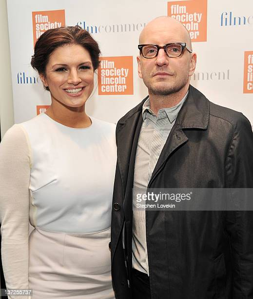 Actress Gina Carano and director Steven Soderbergh attend the Film Comment Selects sneak preview screening of Haywire at The Film Society of Lincoln...