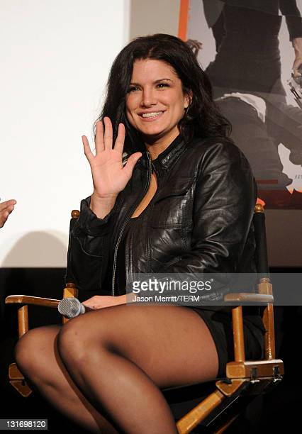 Actress Gina Carano attends the AFI FEST 2011 Presented By Audi secret screening of Haywire held at Grauman's Chinese Theatre on November 6 2011 in...