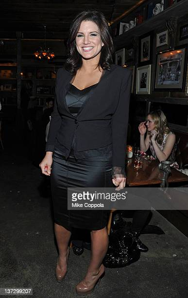 Actress Gina Carano attends the Cinema Society Blackberry Bold screening after party for Haywire at Sons of Essex on January 18 2012 in New York City