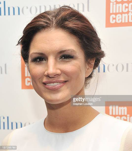 Actress Gina Carano attends the Film Comment Selects sneak preview screening of Haywire at The Film Society of Lincoln Center Walter Reade Theatre on...