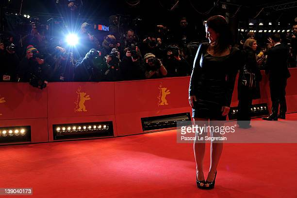 """Actress Gina Carano attends the """"Haywire"""" Premiere during day seven of the 62nd Berlin International Film Festival at the Berlinale Palast on..."""