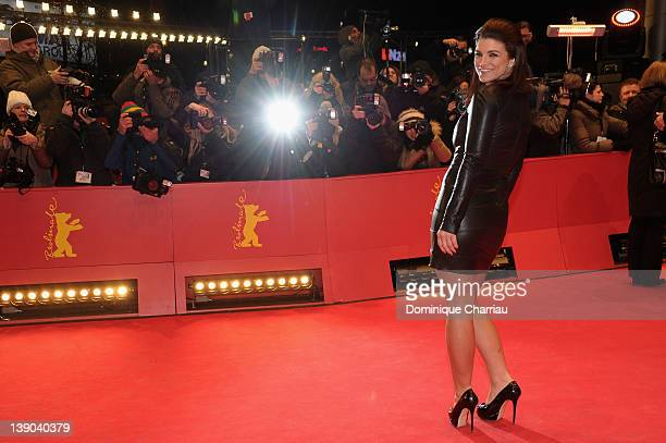 Actress Gina Carano attends the Haywire Premiere during day seven of the 62nd Berlin International Film Festival at the Berlinale Palast on February...