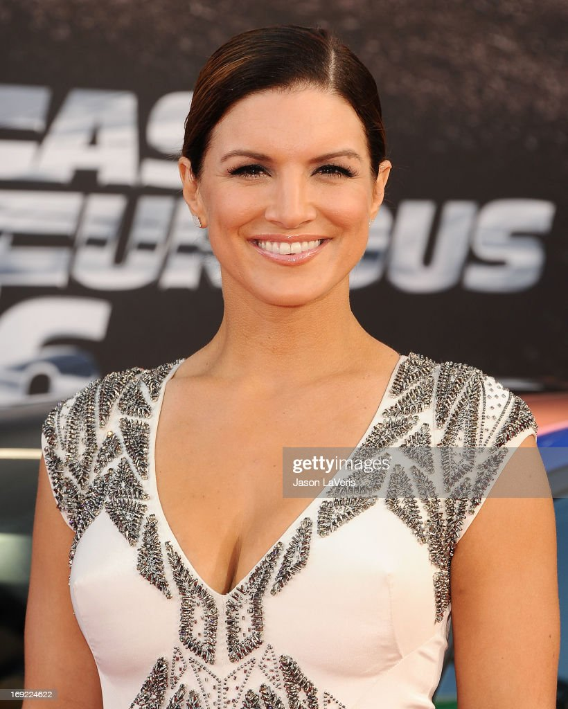 Actress Gina Carano attends the premiere of 'Fast & Furious 6' at Universal CityWalk on May 21, 2013 in Universal City, California.