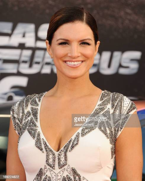 Actress Gina Carano attends the premiere of Fast Furious 6 at Universal CityWalk on May 21 2013 in Universal City California