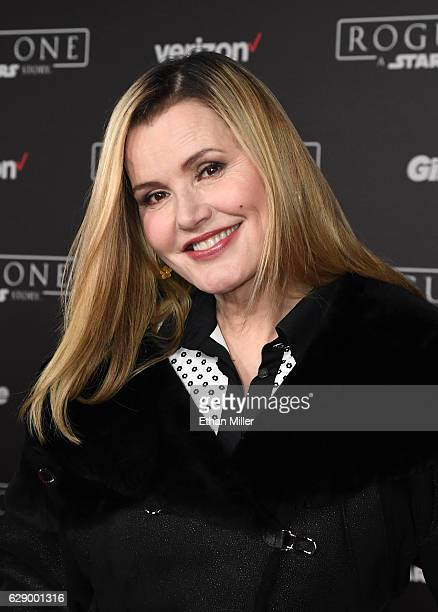 Actress Gina Davis attends the premiere of Walt Disney Pictures and Lucasfilm's Rogue One A Star Wars Story at the Pantages Theatre on December 10...