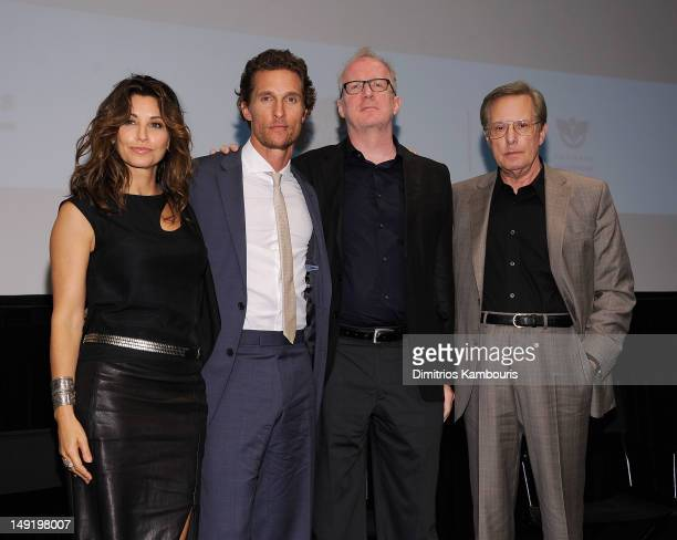 Actress Gina Gershon actor Matthew McConaughey writer Tracy Letts and director William Friedkin attend a screening of Killer Joe at The Film Society...
