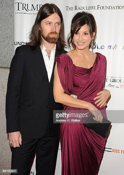 Actress Gina Gershon and Leroy Powell attend the 8th Annual Elton John AIDS Foundation�s An Enduring Vision benefit at Cipriani Wall Street on...