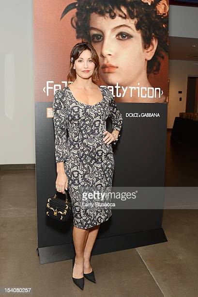 Actress Gina Gershon attends a private screening of the restored Fellini Satyricon hosted by Dolce Gabbana at the 50th New York Film Festival at the...