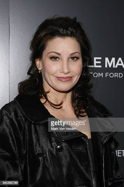 Actress Gina Gershon attends a screening of A Single Man hosted by the Cinema Society and Tom Ford at The Museum of Modern Art on December 6 2009 in...