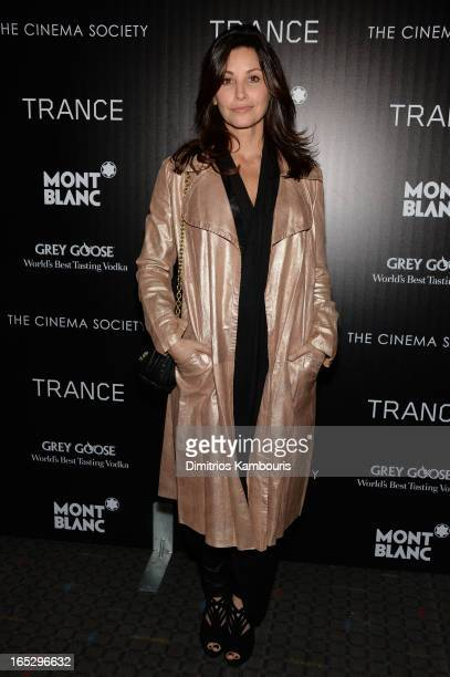 Actress Gina Gershon attends Fox Searchlight Pictures' premiere of Trance hosted by the Cinema Society Montblanc at SVA Theater on April 2 2013 in...