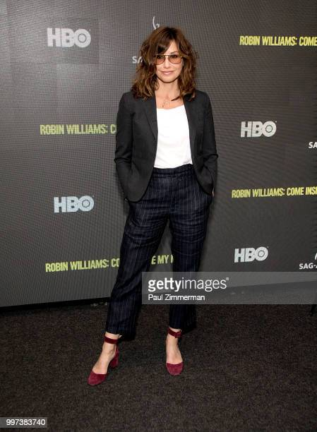 Actress Gina Gershon attends Robin Williams Come Inside My Mind New York Premiere at SAGAFTRA Foundation Robin Williams Center on July 12 2018 in New...