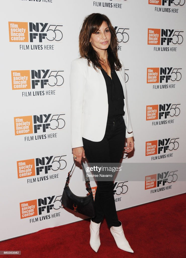 Actress Gina Gershon attends the 55th New York Film Festival 'Joan Didion: The Center Will Not Hold' at Alice Tully Hall on October 11, 2017 in New York City.
