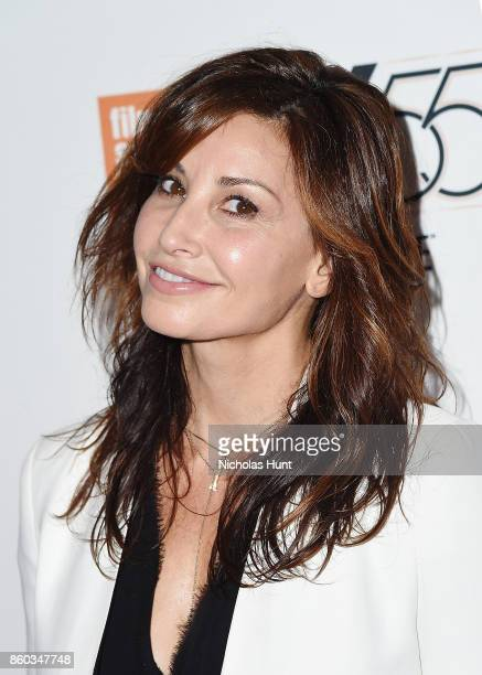 Actress Gina Gershon attends the 55th New York Film Festival presentation of 'Joan Didion The Center Will Not Hold' at Alice Tully Hall on October 11...