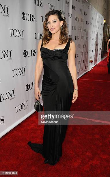 Actress Gina Gershon attends the 62nd Annual Tony Awards at Radio City Music Hall on June 15, 2008 in New York City.