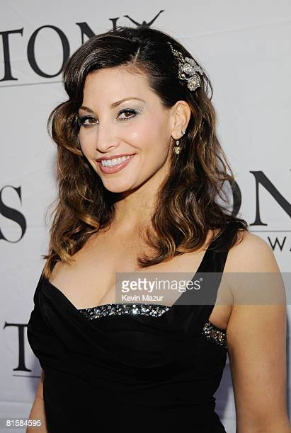 Actress Gina Gershon attends the 62nd Annual Tony Awards at Radio City Music Hall on June 15 2008 in New York City
