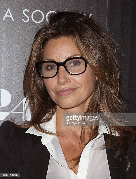 Actress Gina Gershon attends the A24 and The Cinema Society premiere of 'Locke' at The Paley Center for Media on April 22 2014 in New York City