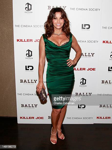Actress Gina Gershon attends The Cinema Society with Bally DeLeon hosted screening of LD Entertainment's 'Killer Joe' at the Tribeca Grand Screening...