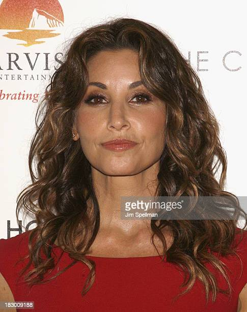 Actress Gina Gershon attends the Marvista Entertainment Lifetime with The Cinema Society screening of House of Versace at Museum of Modern Art on...