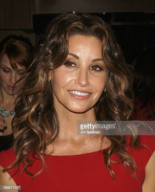 Actress Gina Gershon attends the Marvista Entertainment Lifetime with The Cinema Society screening of 'House of Versace' After Party at B Co on...