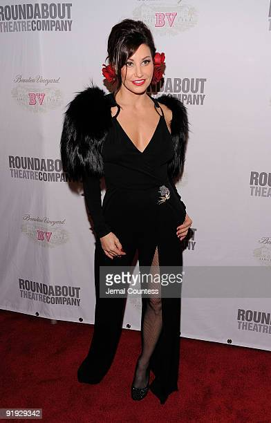 Actress Gina Gershon attends the opening night party for ''Bye Bye Birdie'' on Broadway at the Hard Rock Cafe Times Square on October 15 2009 in New...
