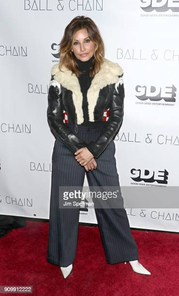 Actress Gina Gershon attends the Permission New York screening at Symphony Space on January 24 2018 in New York City