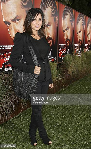 Actress Gina Gershon attends the Premiere Of HBO's East Bound And Down 2nd Season on September 16 2010 in Hollywood California