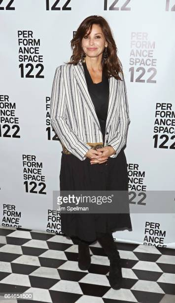 Actress Gina Gershon attends the PS 122 Gala Honoring Alan Cumming at The Diamond Horseshoe on April 4 2017 in New York City