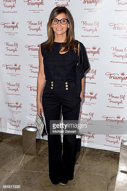 Actress Gina Gershon attends Triumph Lingerie's Magic Wire Launch Event at The Old Bowery Station on August 28 2014 in New York City