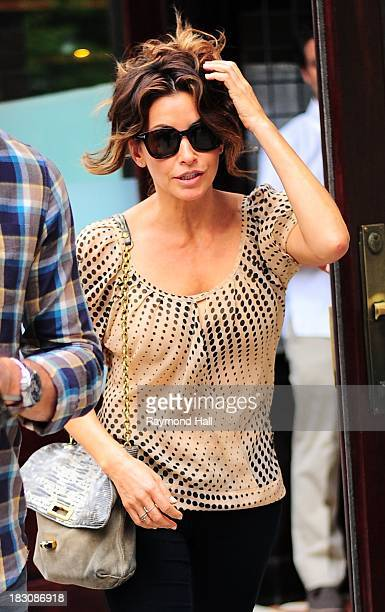 Actress Gina Gershon is seen in Soho on October 3 2013 in New York City