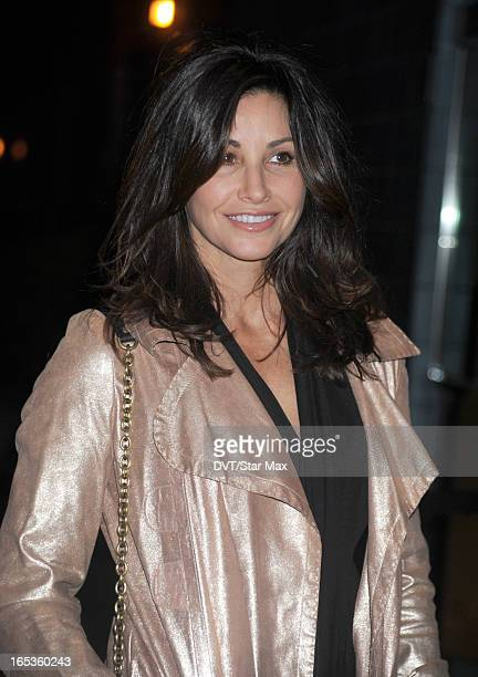 Actress Gina Gershon is seen on April 2 2013 in New York City