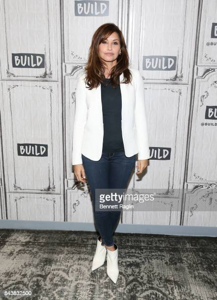 Actress Gina Gershon visits Build to discuss the movie 9/11 at Build Studio on September 7 2017 in New York City