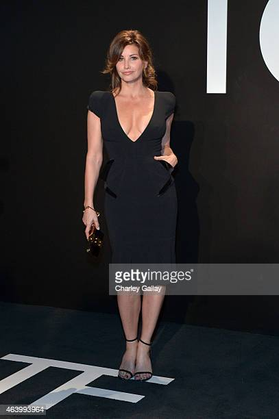 Actress Gina Gershon wearing TOM FORD attends the Tom Ford Autumn/Winter 2015 Womenswear Collection Presentation at Milk Studios in Los Angeles on...