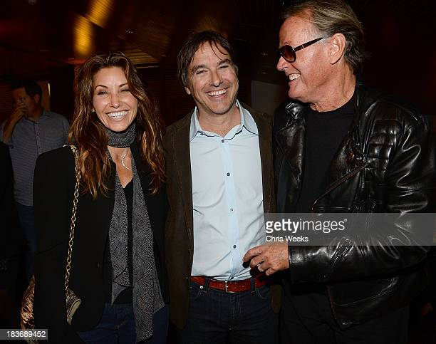 Actress Gina Gerson director Greg Camalier and actor Peter Fonda attend a special screening of Muscle Shoals at the Landmark Theater on October 8...