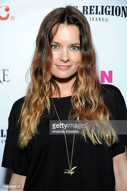 Actress Gina Holden arrives at the NYLON Magazine June/July Music Issue Launch Party With Shirley Manson at The Roxy Theatre on May 30 2012 in West...