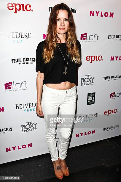 Actress Gina Holden arrives at the NYLON Magazine June/July music issue launch party at The Roxy Theatre on May 30 2012 in West Hollywood California