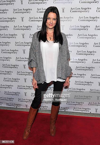 Actress Gina Holden arrives at the opening night gala of the 1st Annual Art Los Angeles Contemporary held at the Pacific Design Center on January 28...