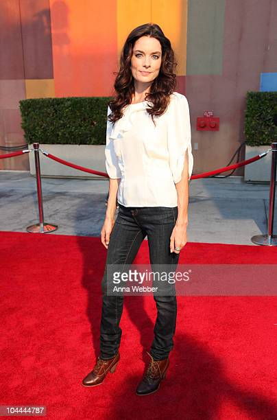 Actress Gina Holden arrives at the Universal Studios Hollywood Halloween Horror Night Eyegore Awards on September 24 2010 in Universal City California