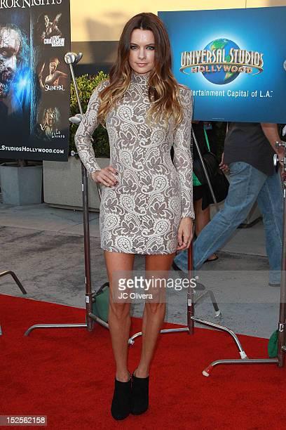 Actress Gina Holden attends Universal Studios Hollywood Halloween Horror Nights Eyegore Awards at Universal Studios Hollywood on September 21 2012 in...