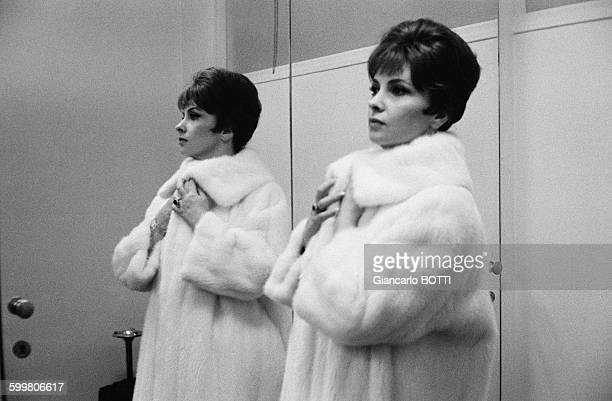 Actress Gina Lollobrigida At Pierre Balmain Fashion Show In Paris France In 1961