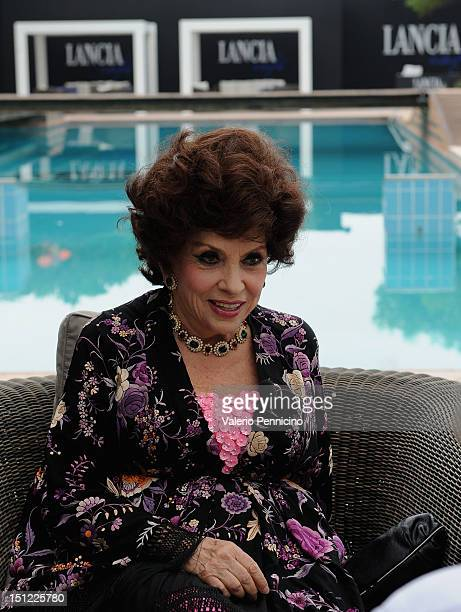 Actress Gina Lollobrigida attends the 69th Venice Film Festival at Lancia Cafe on September 4, 2012 in Venice, Italy.
