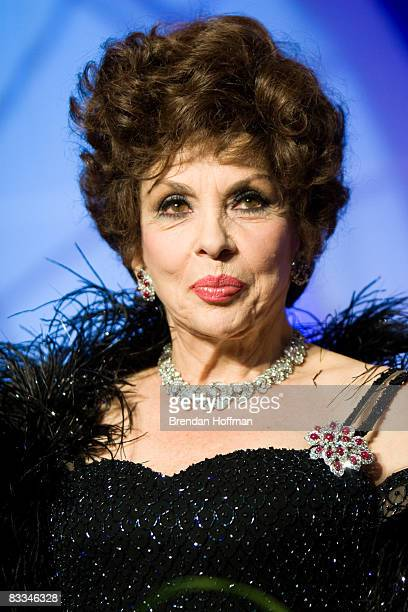 Actress Gina Lollobrigida attends the National Italian American Foundation's 33rd Anniversary Awards Gala on October 18 2008 in Washington DC...