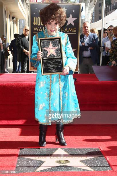 Actress Gina Lollobrigida Honored With Star On The Hollywood Walk Of Fame on February 1 2018 in Hollywood California