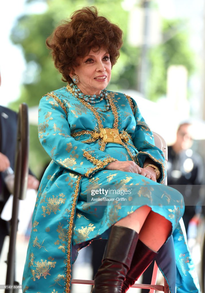 Gina Lollobrigida Honored With Star On The Hollywood Walk Of Fame