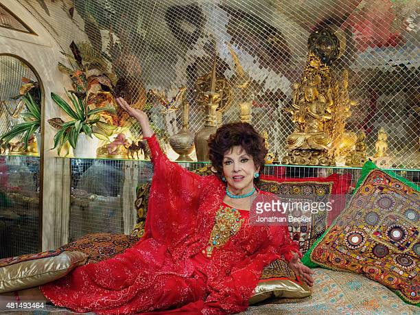 Actress Gina Lollobrigida is photographed for Vanity Fair Magazine on May 21 2014 at home in her villa in Rome Italy PUBLISHED IMAGE