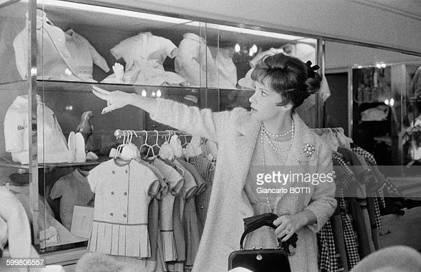 Actress Gina Lollobrigida Shopping In Paris France In 1962